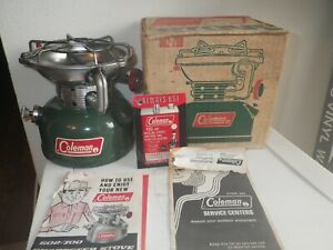 Coleman 502 Sunshine of the Night made 2-72 Backpack Stove With Box & Manuals