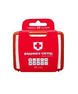 FIRST-AID-KIT-SUPPLIES-STORAGE-SQUARE-PLASTIC-RED-WHITE-TIN-BOX-CASE-POCKET-SIZE