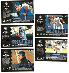 Details About 1996 Pinnacledennys Hologram Baseball Cards Lot Of 528