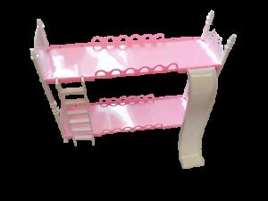 Details About Kids Girls Pink Doll Sized Plastic Bunk Bed Slide Ladder Made For Barbie Dolls