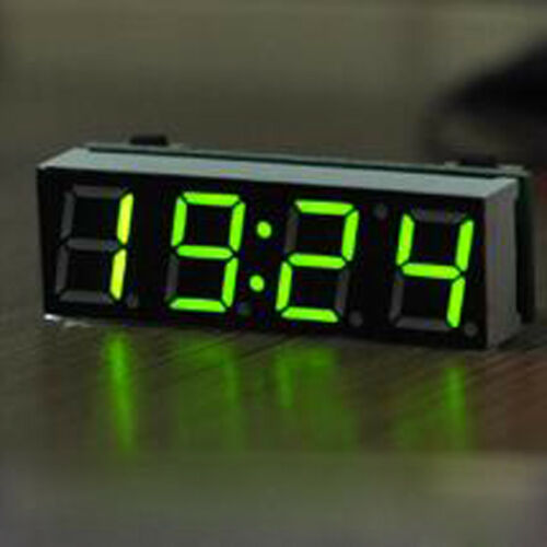 Compact 12V Digital Clock Car LED Electronic Clock Time Voltage Thermometer DIY
