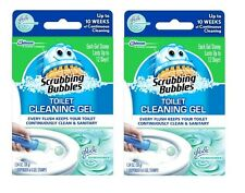12 Scrubbing Bubbles Toilet Cleaning Gel Stamps Glade RAINSHOWER