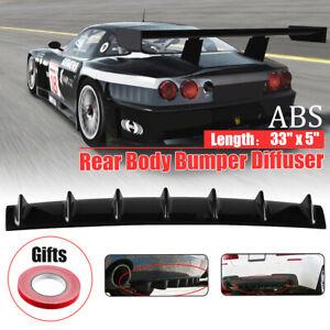 Universal-Car-Lower-Rear-Body-Bumper-Diffuser-Shark-7-Fin-Kit-ABS-Spoiler-33-034-x5-034