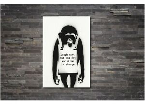 Monkey-Laugh-Now-BANKSY-CANVAS-WALL-ART-PRINT