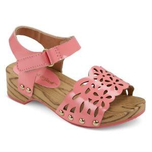 7584052dcc7a Cat   Jack Toddler Girls  Vanna Wood Wedge Slide Sandals Size 7 ...