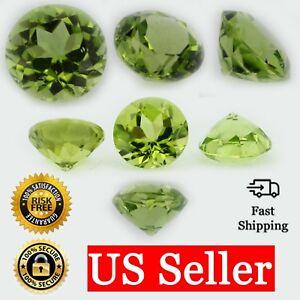 Loose-Round-Cut-Genuine-Natural-Peridot-Stone-Single-Green-Birthstone-Shape