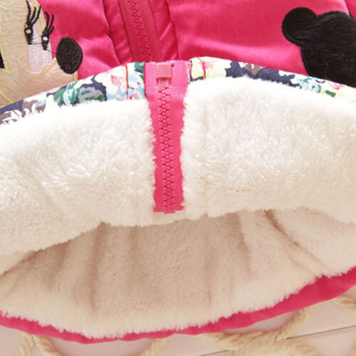 Toddler Baby Girl Clothes Hooded Coat Jacket Infant Kids Winter Warm Outerwear