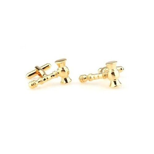 Gold Legal Gavel Judge Court Of Law Cufflinks Free Box /& Cleaner