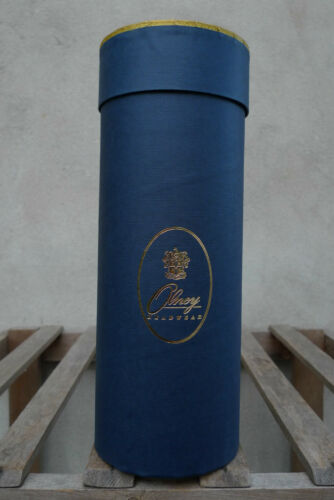 Olney Hat Box Tube for Folding Panama 11in//28cm Blue and Gold
