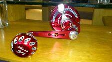 UJ 45mm knob for shimano Kaikon 夢屋 Daiwa SEABORG TANACOM BULL FE reel Red/Silver