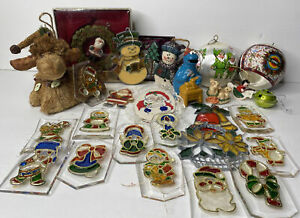 Lot Of 27 Vintage Christmas Ornaments Assorted Styles Holiday Ornaments