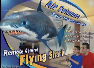Air-Swimmers-Remote-Control-Flying-Shark-Week-Toy-Balloon-Gift-NIB-FREE-SHIP