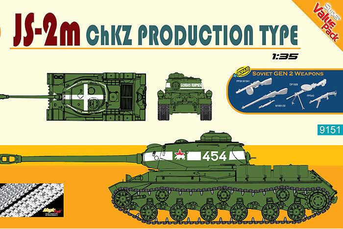 servicio considerado Cyber Hobby 1  3 5 5 5 9151 (Dragon)  Panzer JS-2m Chkz Tipo 51  nuevo listado