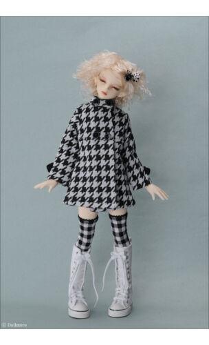 Dollmore 1//4 BJD doll clothes outfits MSD Black /& White MQ Coat
