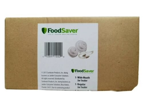FoodSaver Vacuum Jar Sealer Set Regular & Wide Mouth w/ Hosing NEW IN BOX SEALED