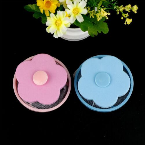 Washing Machine Hair Removal Flower Shape Laundry Ball Float Filter Mesh Bag M/&R