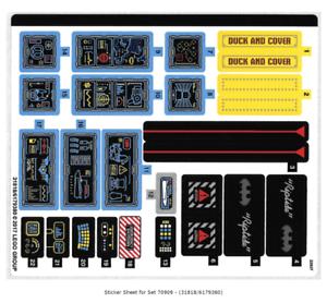 Lego Sticker Sheet for Set 70909 from  Batcave Break-In