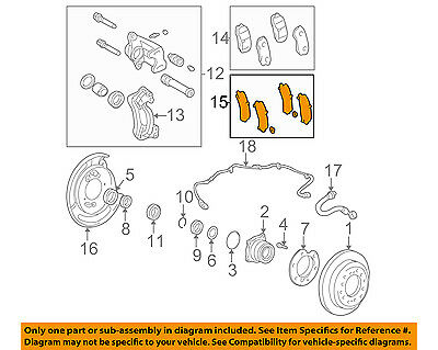 TOYOTA OEM 01-07 Sequoia Brake-Rear-Insulator Kit 0494630100
