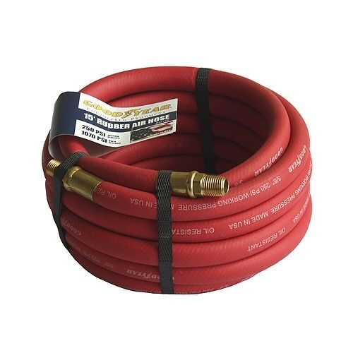 "Good Year 15/' x 3//8/"" 250 PSI Rubber Air Compressor Hose 12175 Goodyear USA Made"