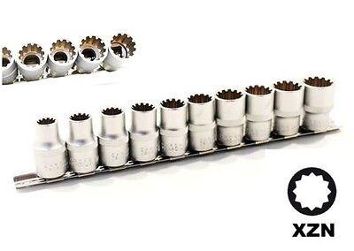 SET CHIAVI A BUSSOLA DA 1/2 80 mm MILLERIGHE PROFILO INTERNO XZN 10 PZ. 9-22 mm