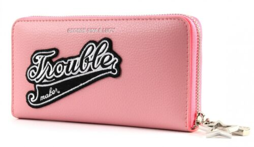 premium selection 02f96 b5134 Pink George da Gina Lucy Patch Let Her ragazza Borsellino Pink Wallet HPSqaH