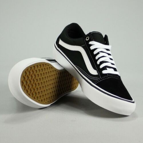 10 Tamaño Old Skool 7 Zapatillas de Black 11 8 9 5 White 6 Skate Pro deporte blanco Negro 4 Vans Uk 12 TwAxqdvw