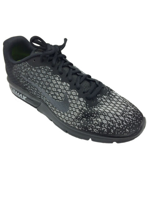 14a9fd72a97 ... get nike air max sequent 2 mens 852461 001 black grey knit running  shoes size 8