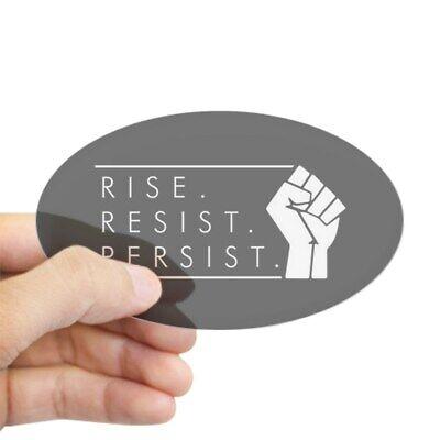 CafePress Rise Resist 2046595110 Sticker Persist Oval