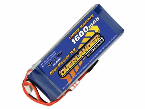 Overlander Digi-Power 1600mAh 2S 7.4v LiPo Battery Receiver Pack 1569