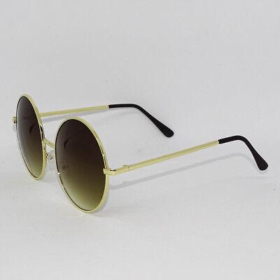 9994603e7e747 Oversized Big Round Circle Gold Metal Frame Hippie Festival BOHO Sunglasses  XL