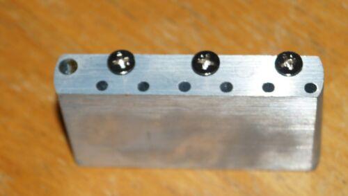 vintage style tremolo bridge block for Strat with screws