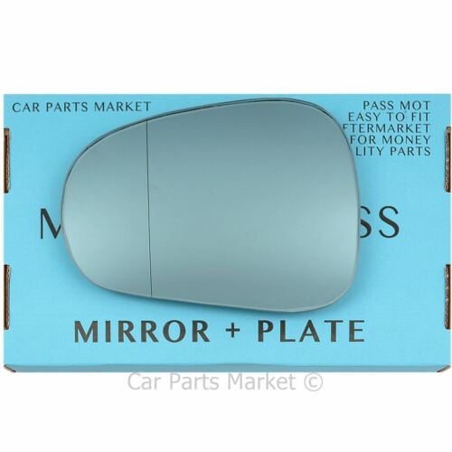 Left side blue Wide Angle Wing mirror glass for Alfa Romeo Mito 08-18 plate