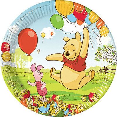 Winnie the Pooh 23cm Paper Party Dinner | Lunch Plates 1-50pk
