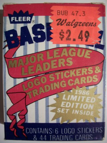 1986 FLEER MAJOR LEAGUE LEADERS 44 CARD BASEBALL SET Pete Rose George Brett