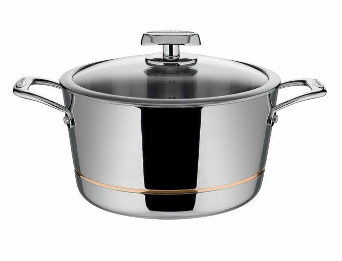 NEW SCANPAN AXIS DUTCH OVEN 24cm 5.2L STAINLESS STEEL KITCHEN COOKWARE COOKING