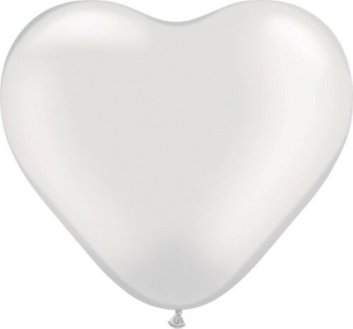 """2 of 2 Listings Pack of 12 Qualatex 6/"""" Heart Shaped Latex Party Balloons"""