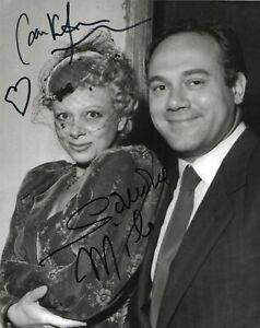 Carlo Verdone e Sandra Milo Foto autografata Signed Cinema Asta di beneficenza