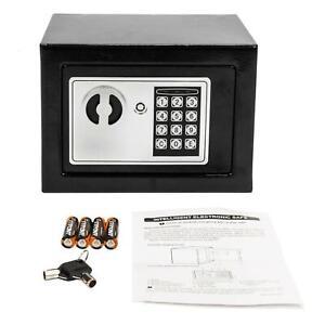 "9/"" Digital Electronic Safe Box Keypad Lock Home Office Jewelry Cash Money White"