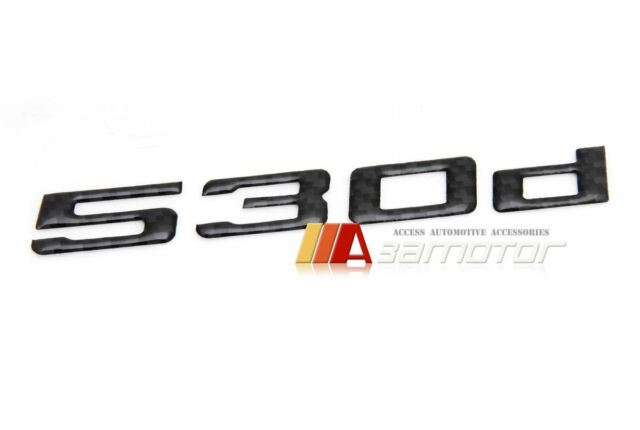 carbon fibre bmw 5 series f10 530d boot trunk emblem badge