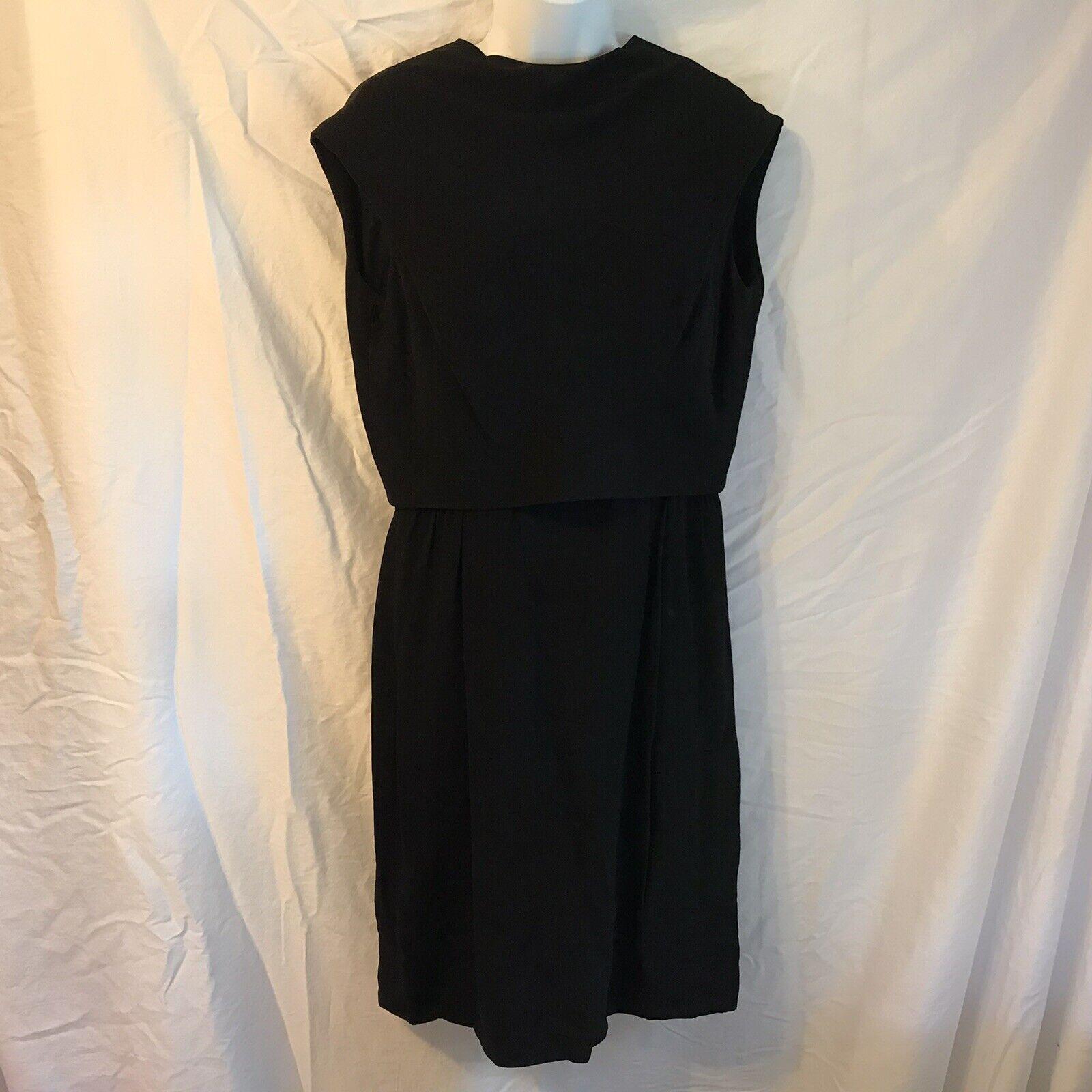 Ceil Chapman Vintage Black Dress - image 8