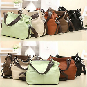 Women Ladies Leather Satchel Handbag Shoulder Messenger Crossbody ...