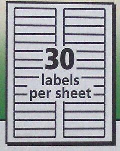 300 Avery 5366 White 5866 Green File Folder Labels Laser