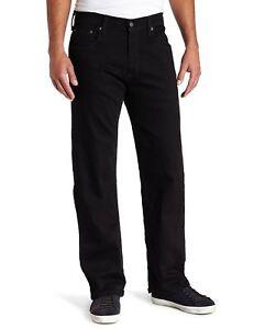 6ae52f0c Levis Mens 569 Loose Straight Fit Stretch Jeans Black V 32 34 36 | eBay