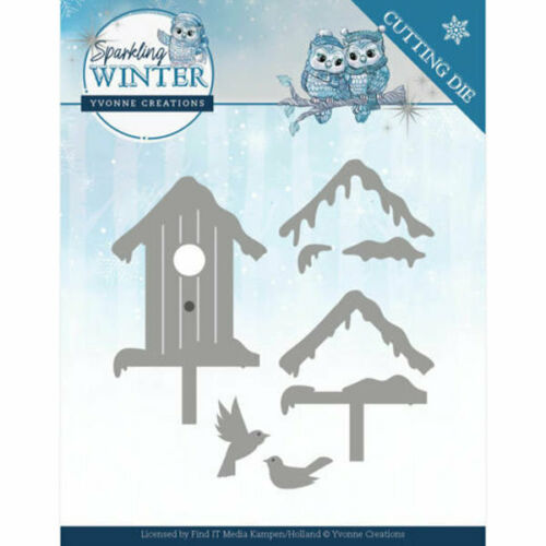 3D YCD10190 -  Sparkling Winter Collection Winter Birdhouse // Vogelhaus