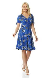 Roman-Originals-Rose-Print-Tea-Dress