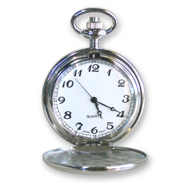 Personalized Silver Pocket Watch Engraved Groomsman Gift For Him