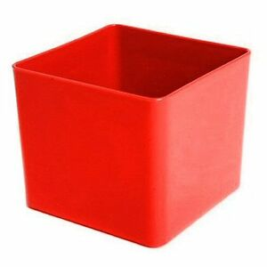 Cube plastic planter red square flower pot home for Cubo plastica arredamento