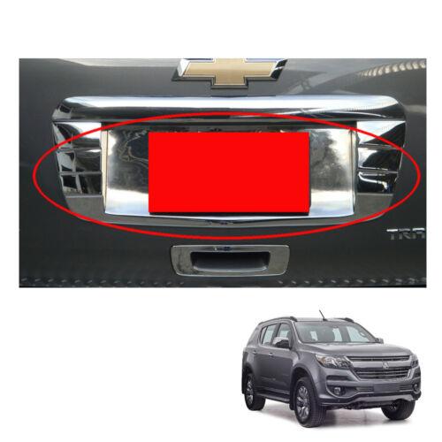2016 2017 License Plate Liftgate Cover Chrome For Chevrolet Holden Trailblazer