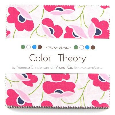 "Color Theory Fabric Moda Charm Pack - 100% Cotton 42 square 5"" Precut quilt"