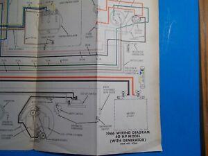 [DIAGRAM_38DE]  1966 JOHNSON OUTBOARD MOTORS 40HP WITH GENERATOR MODEL WIRING DIAGRAM  JS-4266 | eBay | 1966 Johnson Outboard Wiring Diagram |  | eBay